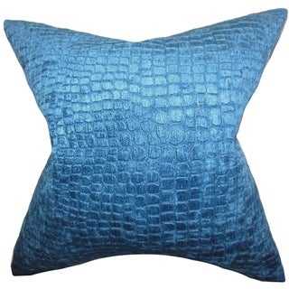 Jensine Solid Lapis Down Filled Throw Pillow