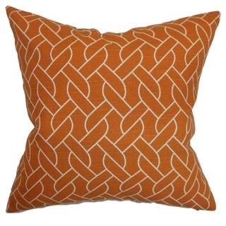 Neptune Mango Geometric Down Filled Throw Pillow