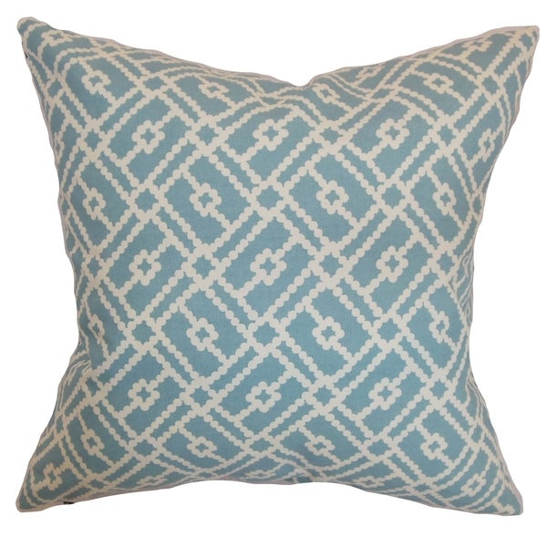 Majkin Turquoise Geometric Down Filled Throw Pillow - Free Shipping Today - Overstock.com - 16234001