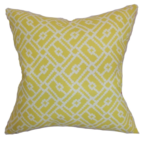 Majkin Canary Geometric Down Filled Throw Pillow. Opens flyout.