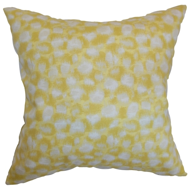 Imperatriz Banana Geometric Down Filled Throw Pillow