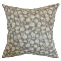 Imperatriz Sand Geometric Down Filled Throw Pillow