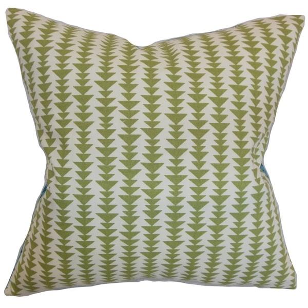 Green Geometric Throw Pillow : Jiri Green Geometric Down Filled Throw Pillow - Free Shipping Today - Overstock.com - 16234015