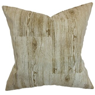 Kratie Toffee Down Filled Throw Pillow