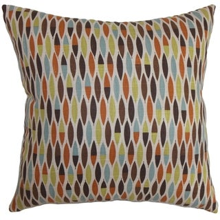 Candie Geometric Multi Feather and Down Filled Throw Pillow