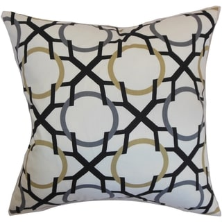 Lacbiche Geometric Slate Feather and Down Filled Throw Pillow
