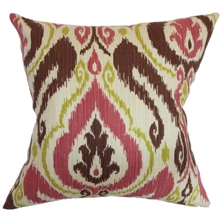 Obo Ikat Terrasage Feather and Down Filled Throw Pillow