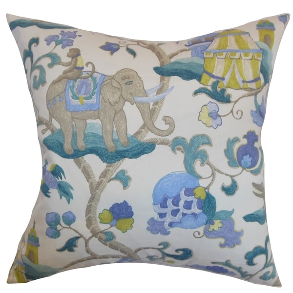 Washing Down Decorative Pillows : Majella Floral Teal Feather and Down Filled Throw Pillow - Free Shipping Today - Overstock.com ...
