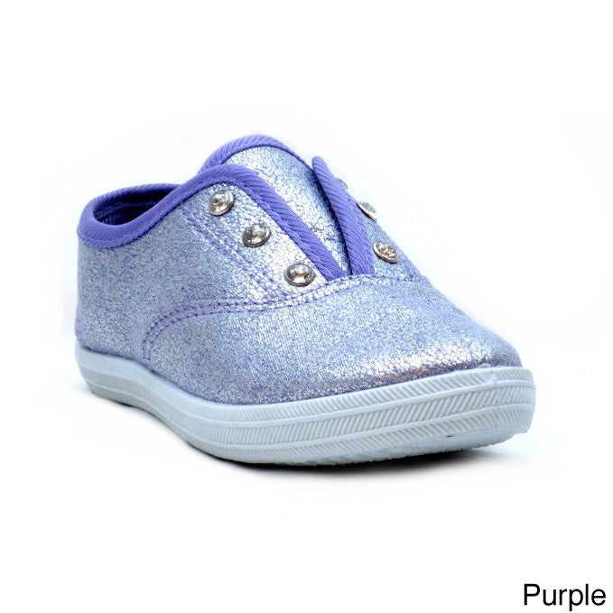 Blue Kids 'K-Ruler' Glittery Casual Shoes (Purple - 4), G...