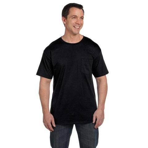 Hanes Men's Beefy-T with Pocket Undershirts (Set of 6)