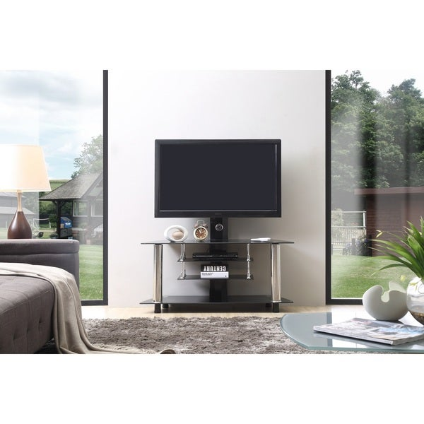 Glass Tv Stand With Mount Free Shipping Today Overstock Com 16234091