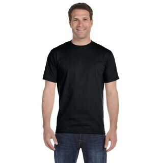 Gildan Men's Black Dryblend 50/50 Undershirts (Set of 6)