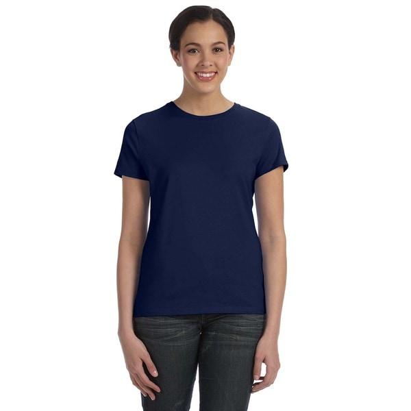Women's Navy Ringspun Cotton Nano-T T-shirt