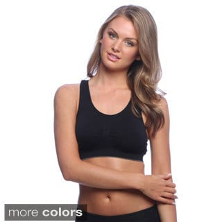 24/7 Frenzy Women's Seamless Lightweight Sports Bras (Pack of 6)