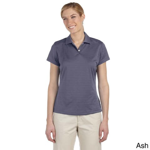 Adidas Women's ClimaLite Textured Short Sleeve Polo