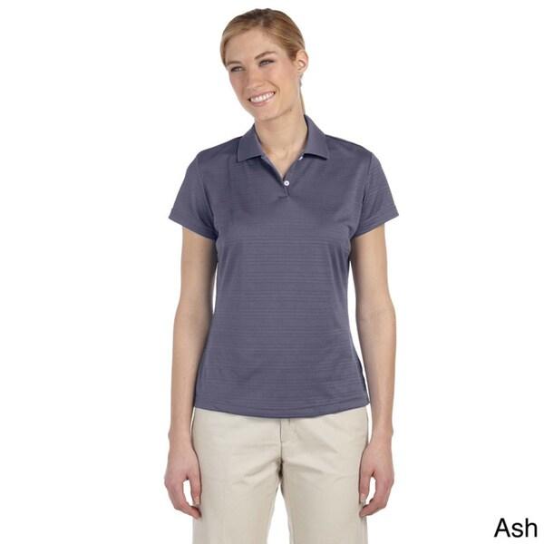 Adidas Women's ClimaLite Textured Short Sleeve Polo