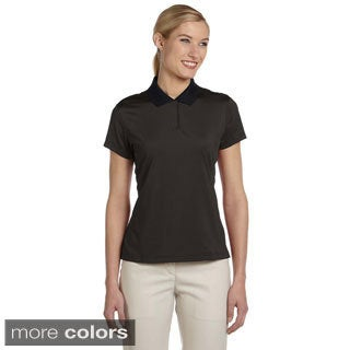 Adidas Women's ClimaLite Classic Striped Short Sleeve Polo