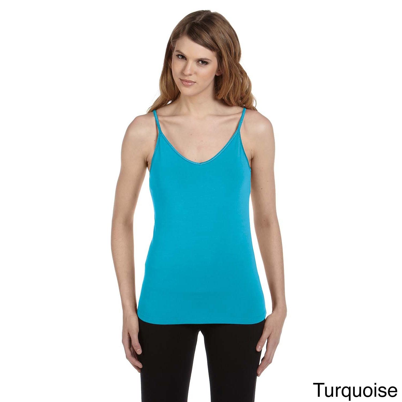 Bella Women's Cotton/ Spandex Shelf Bra Tank (2XL,Turquoi...