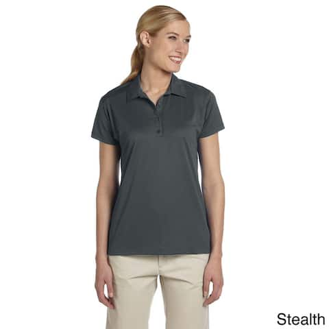 Women's Micro Pointelle Mesh Sport Polo Shirt