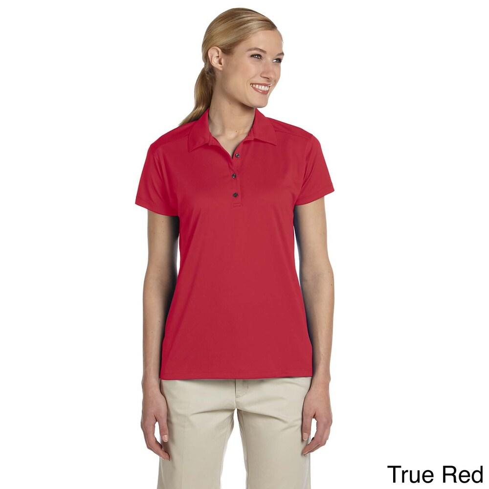 Womens Micro Pointelle Mesh Sport Polo Shirt