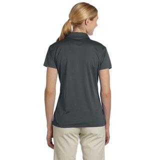 Women's Micro Pointelle Mesh Sport Polo Shirt