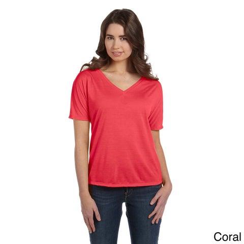 Women's Flowy V-neck T-shirt