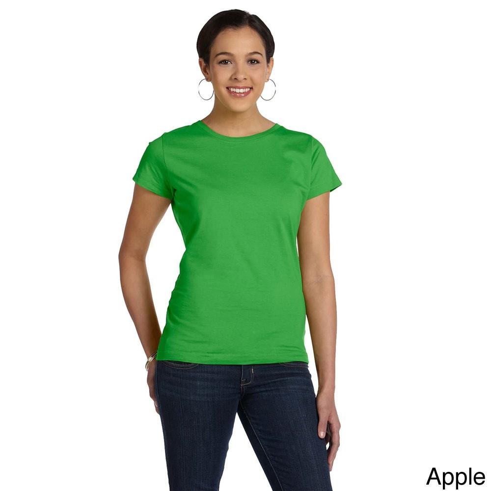 Womens Fine Jersey Crew Neck T-shirt