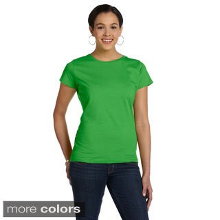 Women's Fine Jersey Crew Neck T-shirt (Option: Red)