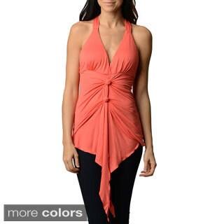 Stanzino Women's Slim Fit X-back Sleeveless Halter Top