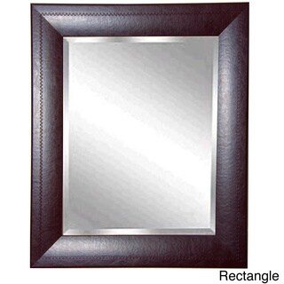 American Made Rayne Espresso Leather Wall/ Vanity Mirror