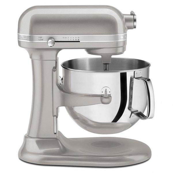 Kitchenaid Ksm7586psr Sugar Pearl Silver 7 Quart Bowl Lift Stand Mixer Free Shipping Today 9036210
