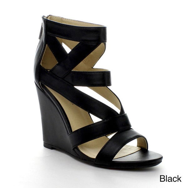 Bonnibel Loma-1 Women's Strappy Back Zipper Wedge Sandal