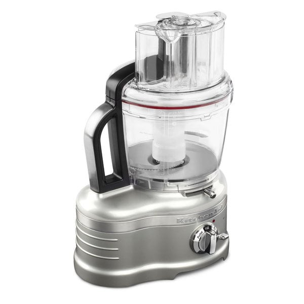 KitchenAid KFP1642SR 16-Cup Sugar Pearl Silver Food Processor with Commercial-Style Dicing