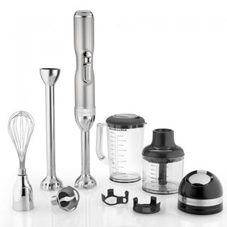 KitchenAid KHB3581SR Pro Line Series 5-Speed Sugar Pearl Silver Cordless Hand Blender