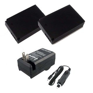 Two Halcyon 2200mAH Lithium-ion Replacement Batteries and Charger Kit for Canon LP-E12 Bundle