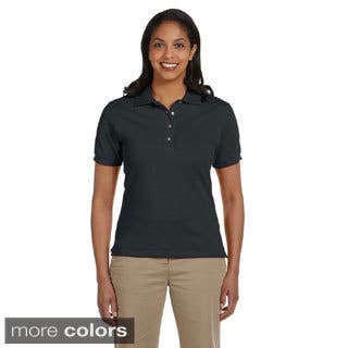 Jerzee's Women's Ringspun Cotton Pique Polo|https://ak1.ostkcdn.com/images/products/9036827/Jerzees-Womens-Ringspun-Cotton-Pique-Polo-P16235463.jpg?impolicy=medium