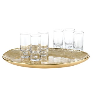 Glamour Gold 7-piece Cordial/ Shot Glass Set