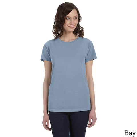 Women's Pigment-dyed and Direct-dyed Ringspun T-shirt