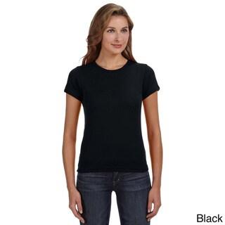 Women's Ringspun Baby Rib Scoop T-shirt