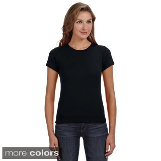Women's Ringspun Baby Rib Scoop T-shirt