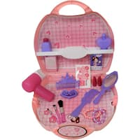 DimpleChild DC4940 22 Piece Princess Beauty Set with Hair-Dryer, Brushes, Makeup, a Travel and Carry Case and More