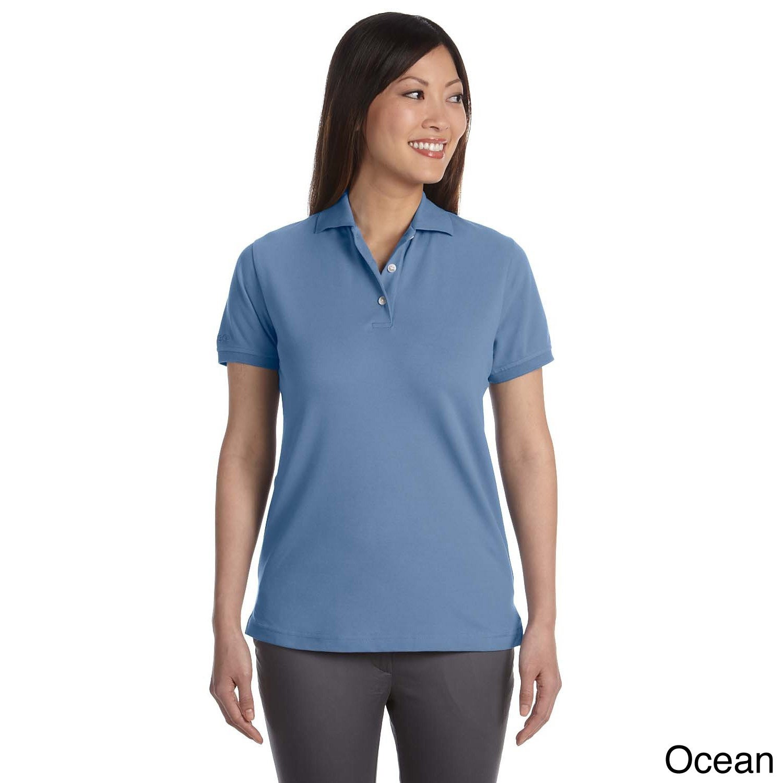 Izod Women's Original Silk-wash Pique Polo Shirt (S,Ocean...