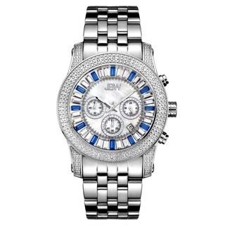 JBW Men's 'Krypton' Stainless Steel Chronograph Diamond Watch