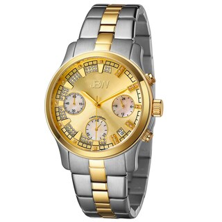 JBW Women's 'Alessandra' Two-tone Goldtone Diamond Watch