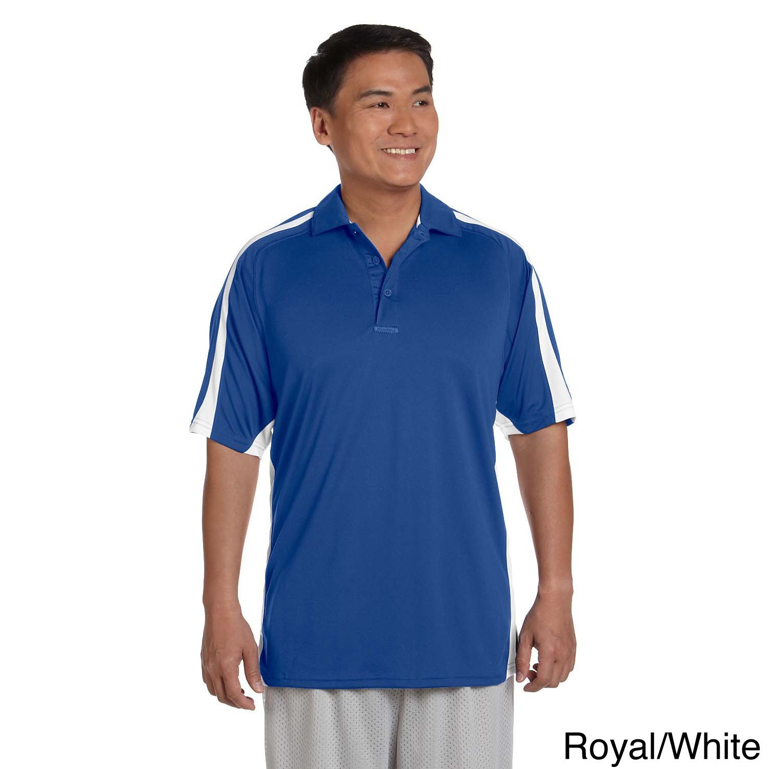 Russell Athletic Men's Team Game Day Polo Shirt (S,Royal/...
