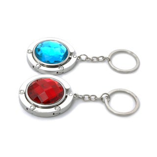 Gem-tone Handbag Hanger Keychain (Set of 2)