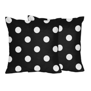 Sweet Jojo Designs Modern Hot Dot Collection Throw Pillows (Set of 2)