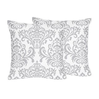 Decorative Accent Throw Pillows for Sweet Jojo Designs Gray and White Damask Bedding Collections - Set of 2 https://ak1.ostkcdn.com/images/products/9037381/Decorative-Accent-Throw-Pillows-for-Sweet-Jojo-Designs-Gray-and-White-Damask-Bedding-Collections-Set-of-2-P16235924.jpg?impolicy=medium