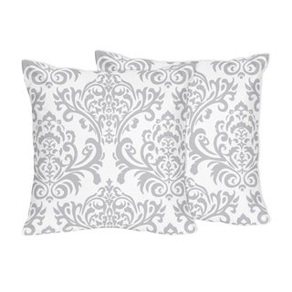 decorative accent throw pillows for sweet jojo designs gray and white damask bedding collections set