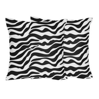 Sweet Jojo Designs Zebra Bedding Collections Throw Pillows (Set of 2)
